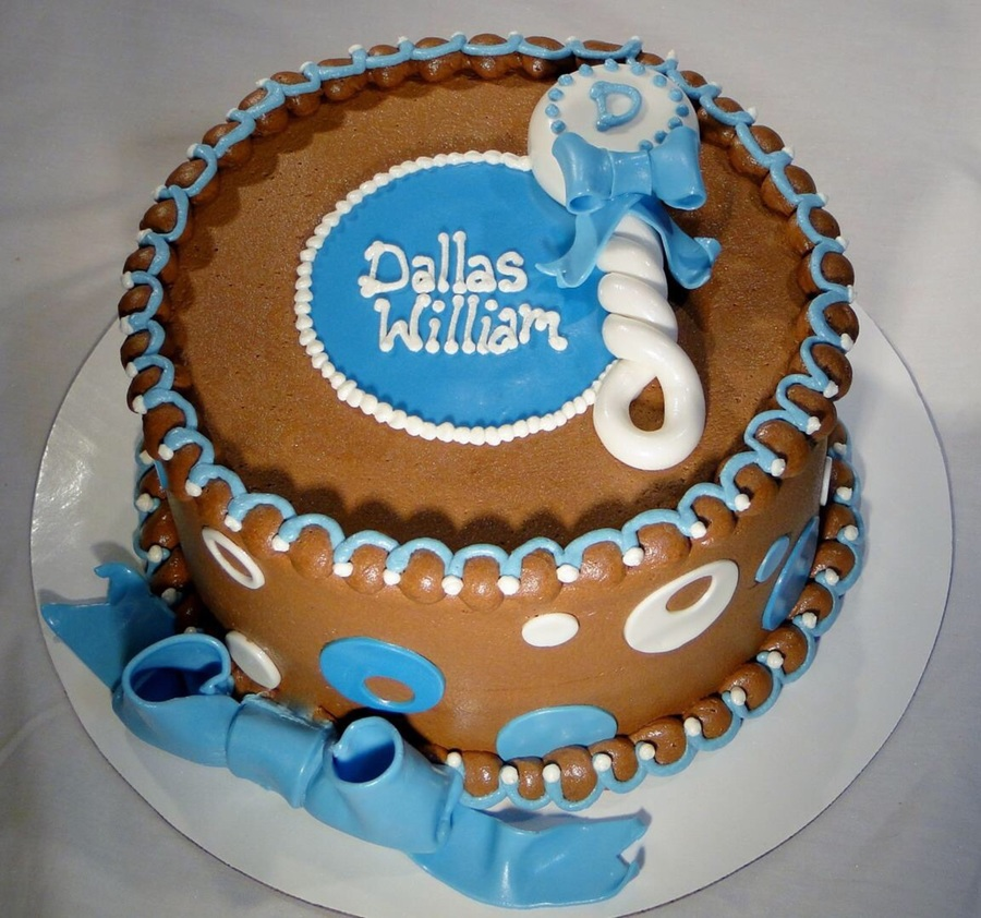 Baby Shower Rattle on Cake Central