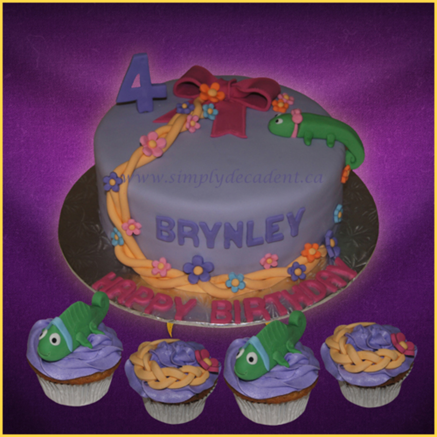 Disney Rapunzel Tangled Birthday Cake With Pascal And Rapunzel