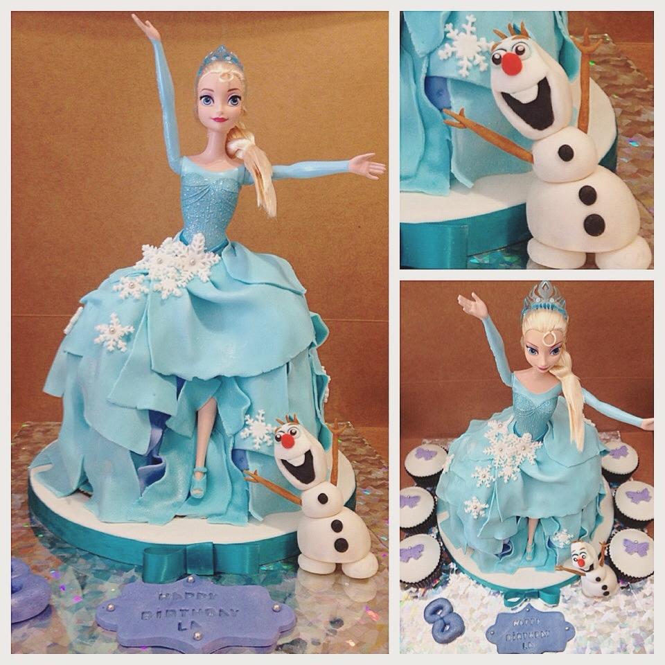 Elsa Doll Cake Decorations : Frozen Doll Cake Elsa - CakeCentral.com