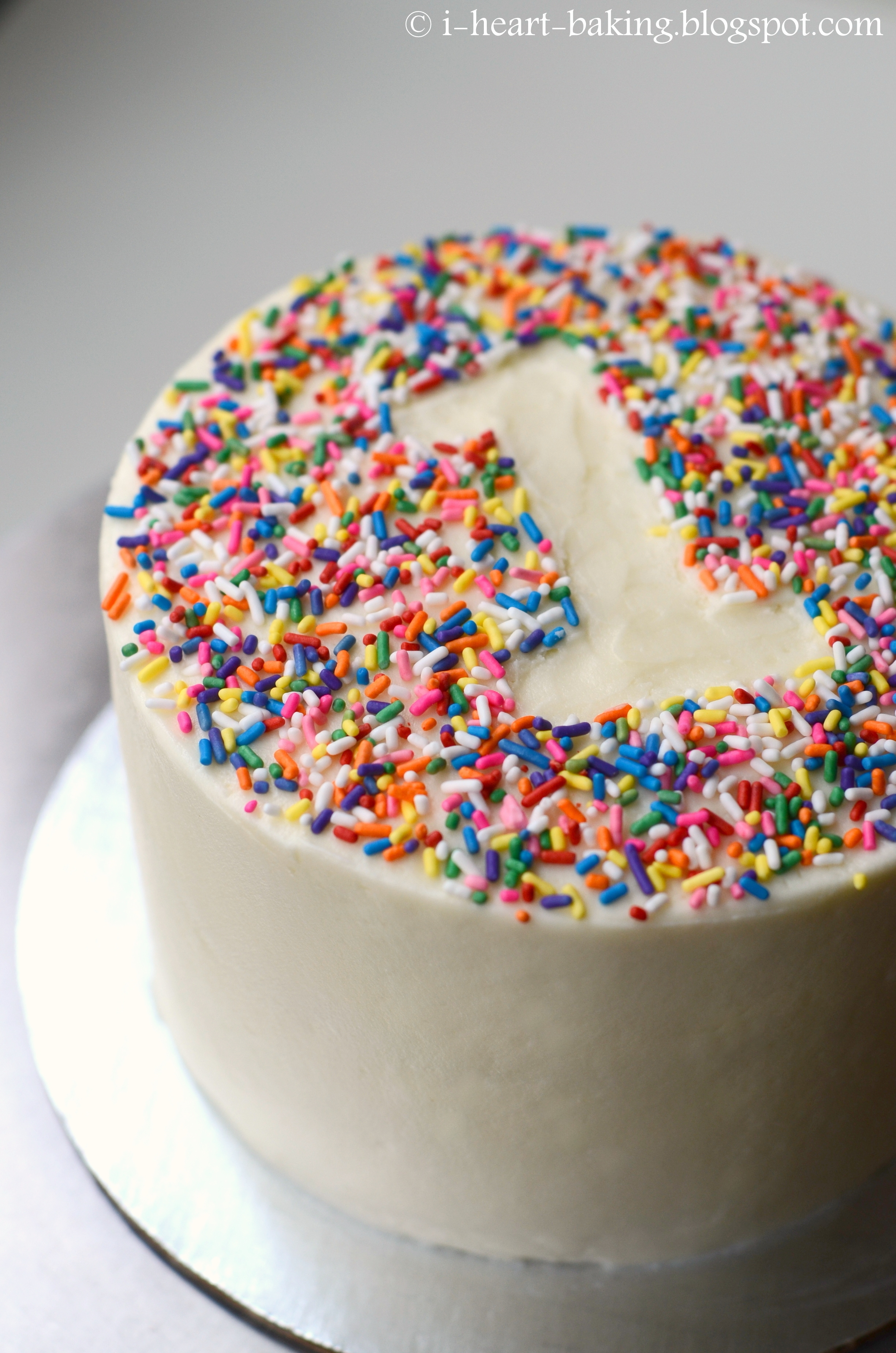 Rainbow Sprinkle First Birthday Smash Cake Cakecentral Com