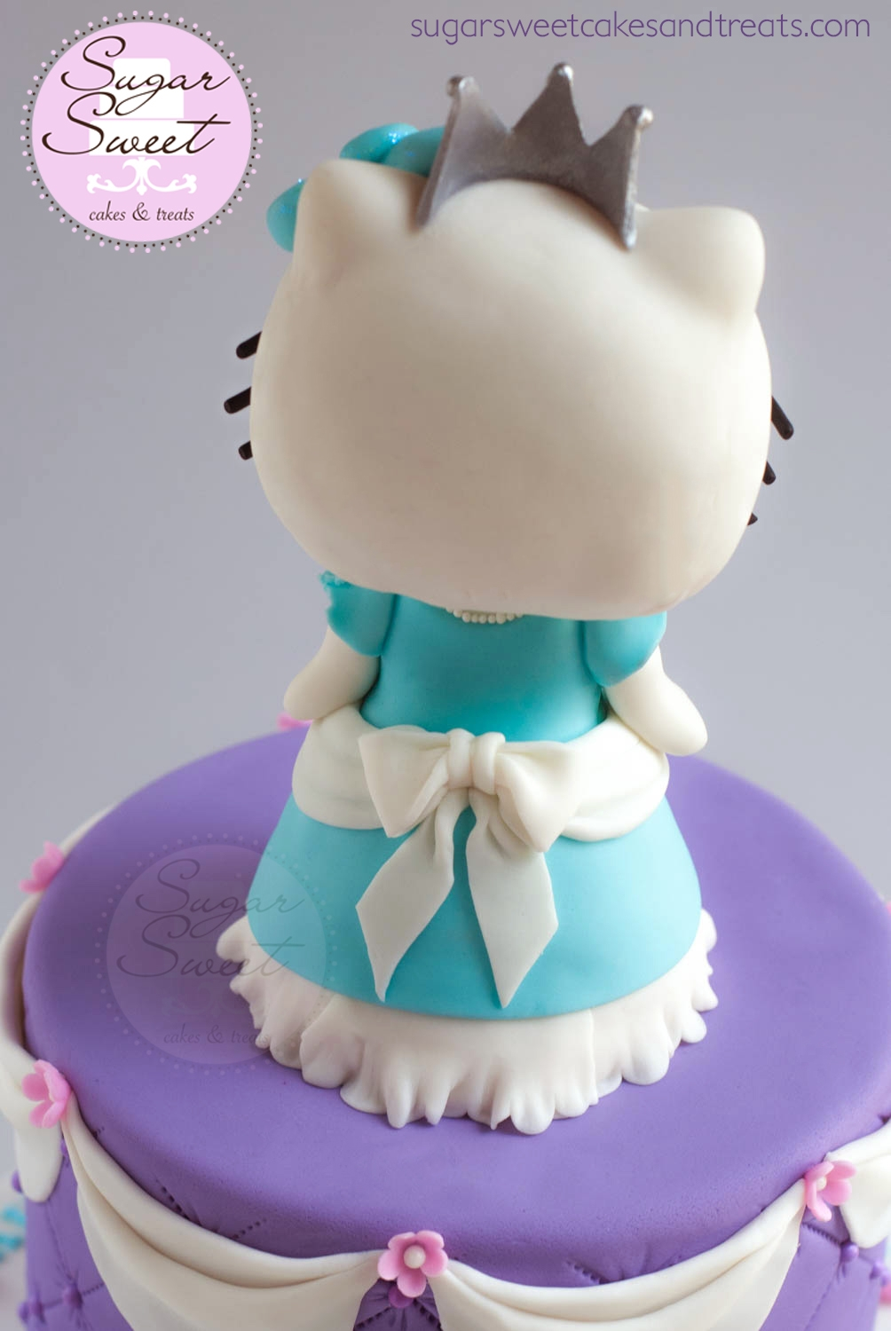Princess Hello Kitty Cake And Cupcakes - CakeCentral.com