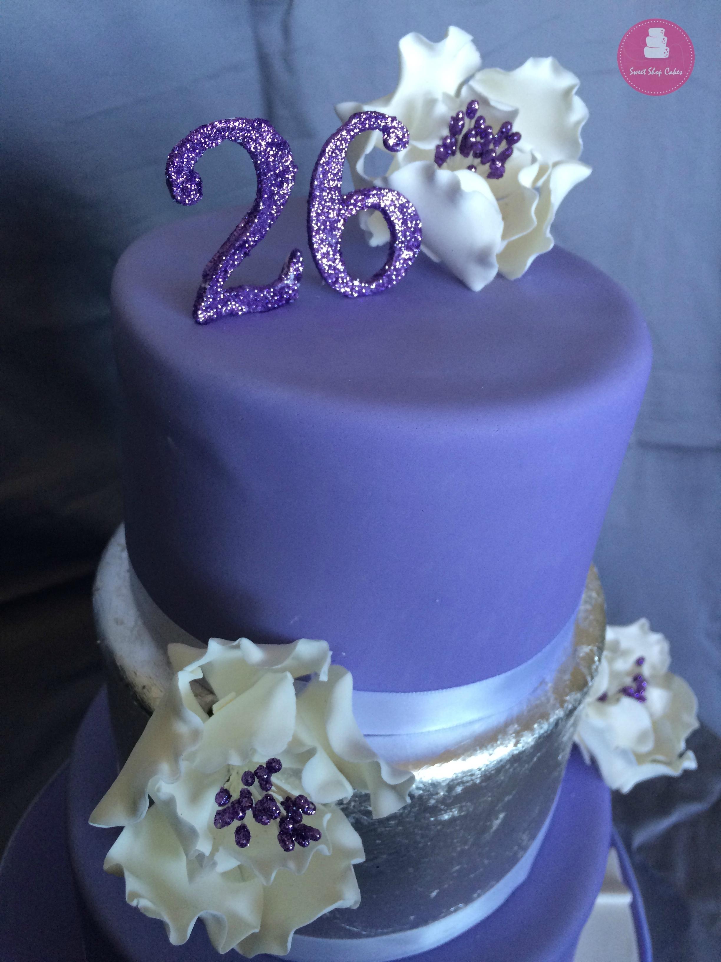 Elegant 26th Birthday Cake Cakecentral Com