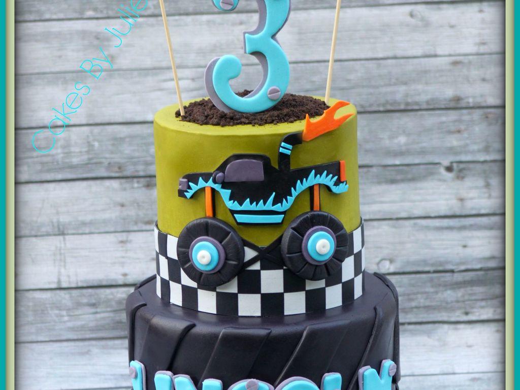 Monster Truck 3Rd Birthday Cake