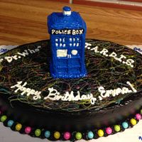 Tardis This cake was made with tardis baked in a silicon mold. Spraying the mold did help very much in getting the cake to show its details. The...