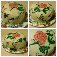 My First Painted Cake. Chocolate Modeling Clay I wanted to try out the classed on crafty. They offered a free class...It so happened to be for painting. I love to paint lol! So here is...