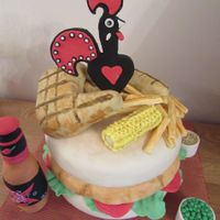 Nandos Cake this is a cake I made for a MacMillan coffee morning at nandos in meadowhall