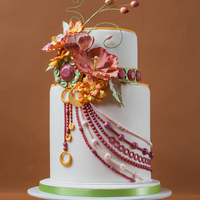 Art Nouveau Wedding Cake This cake was featured in Vol 5 Issue 2 and was Inspired by Artist Alphonse Mucha. I wanted to work with the head band of the girl in the...