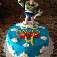 Toy Story Themed Cake   Simple toy story themed cake using buttercream