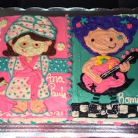 Spa And Rock Cake this 2 in one decoration FreeHand cake for 2 Little girls