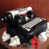 Type Machine Writers Birthday Cake I made this cake for a good friend who is a writer, and I couldn't think of a better way to celebrate her birthday