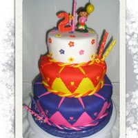 Dora The Explorer Had a lot of fun making this cake!!!