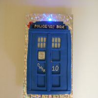 Dr. Who Tardis Cake Made this for a dear friend's son, (like a nephew) I had 6 days notice and a big cake due the previous day. So I didn't get to...