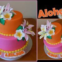 Baby Shower Cake Doesn't look like a baby shower cake, maybe she was given a trip to Hawaii? I was wondering about the colors but once it was done,...