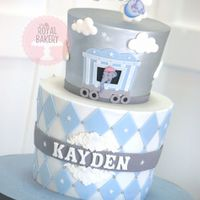 Baby Mine Dumbo Baby Shower Cake   Tapered tiers for a Baby Mine-themed baby shower.