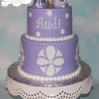 "Sofia The First 6"" & 8"" cakes iced in buttercream w/fondant decorations. The plastic toys/figurines were provided by the customer. TFL!"