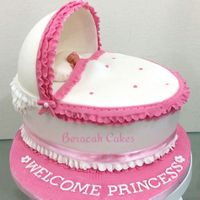 Another Bassinet Cake For a baby girl naming ceremony