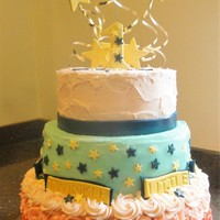 Twinkle Twinkle Little Star Birthday Cake This is a Twinkle Twinkle Little Star Cake made for my grand-daughter's first birthday party. It's White almond with fresh...