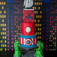 Avengers Super Hero Cake Holden's Style Thank you so much Lori Mercer Photography​ for this Amazing photo of Holden's Avenger Super Hero Cake!!!! White chocolate...