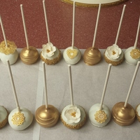 Ivory And Gold Cake Pops Ivory and gold cake pops
