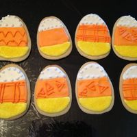 Candy Corn Cookies. Some cute candy corn cookies to go with my Halloween birthday cake.