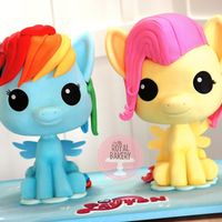 My Little Pony Chibi Cakes I adapted Avalon Cakes CakeMade Chibi tutorial to make these two POP!-inspired ponies. The heads and hair of both are cake. I used a...