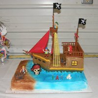 Pirate Ship Made for a friends little boy