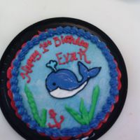 Baby Whale Smash Cake I used a small offset spatula and a little bit of water to paint this baby whale on this cake. It talks about 1/8 of the time fondant used...