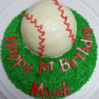 Baseball Smash Cake I made this smash cake and several dozen cupcakes for another friend who had a child turning 1. This time it was for a baseball themed...