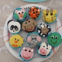 Animals Cupcakes Zoo and farm animals cupcakes