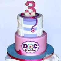 Doc Charlie Egg free cake for a Doc McStuffins themed party.