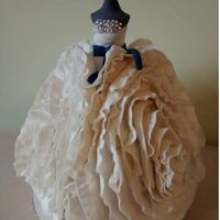 Wedding Dress Cake Modelled from a Vera Wang wedding dress - made from another baker's cake (thank you)!!