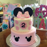 Addy's Minnie Mouse Cake I made this cake for my granddaughter's 2nd birthday. She loves Minnie Mouse.