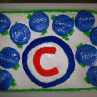 Baseball Team Cake   baseball team party cake