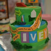 Game Of Life I made this cake for my cousin's gender reveal party! The couple is a fan of the game 'Life' so I customized this cake...