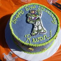 Buzz Light Year Cake Have you ever read the book Whimsical Bake House? So inspiring. That's where I learned how to do chocolate transfers. Love that book...