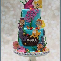 Bubble Guppies Cake.   Bubble Guppies Cake.