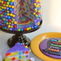 Surprise Inside Disney Pixar Inside Out Cake   Free tutorial and all the details at: http://once-upon-a-pedestal.blogspot.com/2015/09/surprise-inside-disney-pixar-inside-out.html .