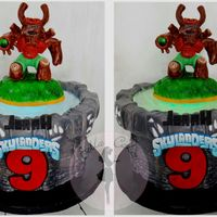Skylanders Cake With Remote Control Led Light My favorite thing about this cake was I made a divider between the top of the cake and the topper so that I could raise the topper up and...