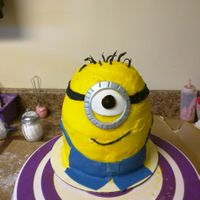 Little Minion Birthday cake for a co worker