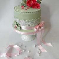 Vintage Cake Lovely Vintage cake with roses.