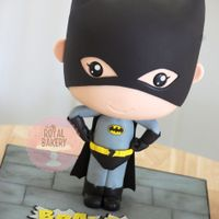 Batman Bobblehead Chibi Cake   A Batman bobble head cake based on the tutorial by Avalon Cakes CakeMade tutorial. Highly recommended!