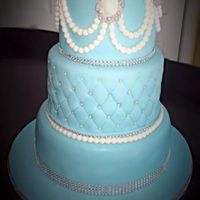 Tiffany Blue And Bling Blue birthday cake for a friends mother