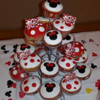 Cup Cakes Minnie Mouse Cup Cakes