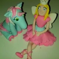 Fairy Princess And Unicorn Fondant Fairy princess and unicorn figurines