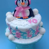Penguin I made this penguin themed cake for a daughter of a friend of mine whose favourite toy is her penguin who she sleeps with every night. The...