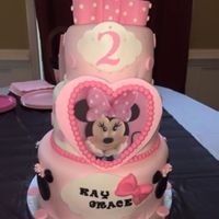 Minnie Mouse Second Birthday Cake Minnie mouse birthday cake