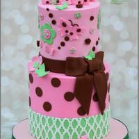 Butterfly Baby Shower Cake.   Butterfly Baby Shower Cake.