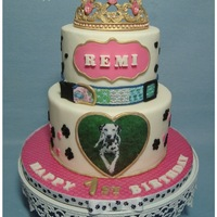 Princess Remi's First Birthday I made this cake for my niece who was throwing a party to celebrate her beloved Dalmatian dog turning 1. I loved making the tiara, and can&...