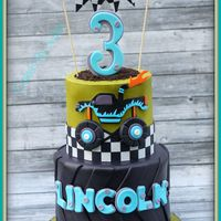 Monster Truck 3Rd Birthday Cake.   Monster Truck 3rd Birthday cake.