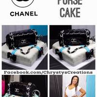 Chanel Purse Cake So.... This cake took me 2 days to make. It was a Chanel inspired cake. Everything was completely edible, except for the diamond border on...